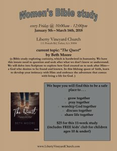 "Women's Bible Study - ""The Quest"""