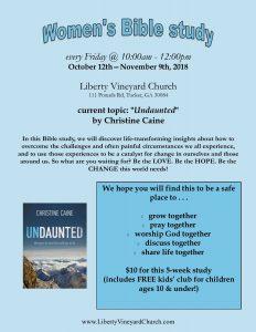 """Women's Bible Study - """"Undaunted"""""""